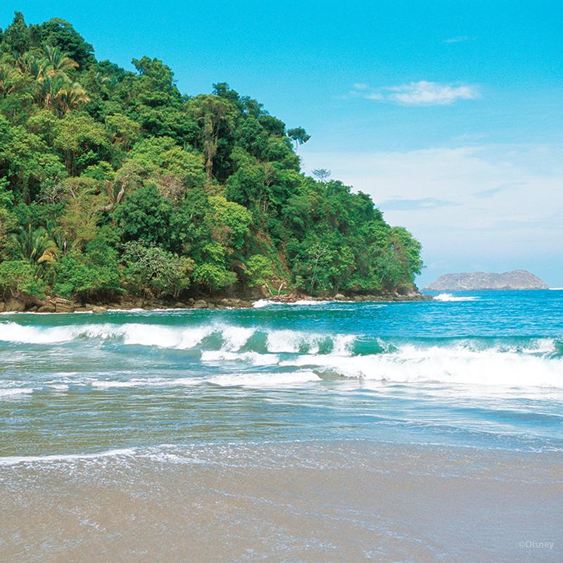 Costa Rican coast and beach