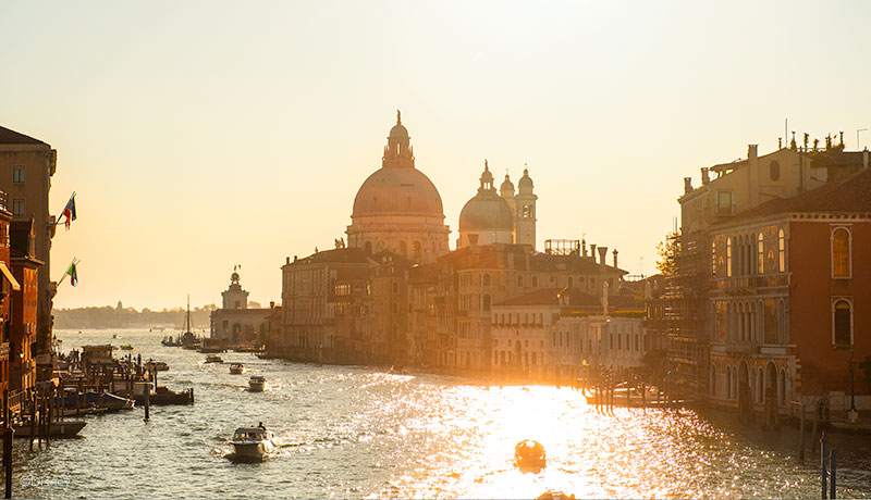 Venice canals and basilica